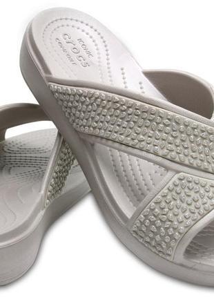 Crocs sloane embellished сандалии женские  w9