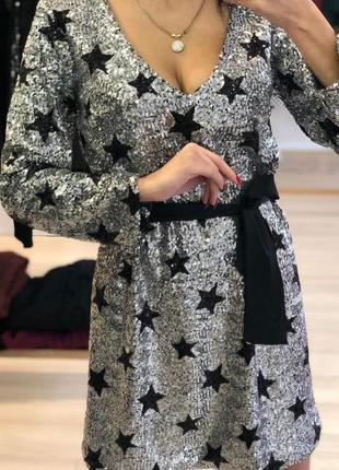 Платье вечернее с пайетками ,италия