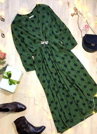 Красивое платье tu зеленого цвета в цветочный принт