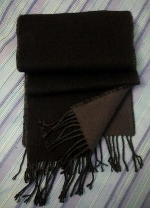 Шерстяной двусторонний шарф