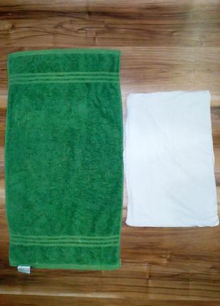 Травяное полотенце + простынь , из натурального хлопка
