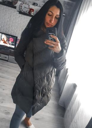 Куртка зимняя, пуховик асиметрия от oogji