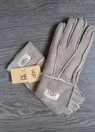 Новые брендовые перчатки овчина 100% натуральный мех/замш