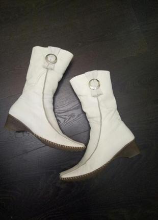 Распродажа!короткие белые сапоги,ботинки,натуральная кожа,зима,трендовая модель 2020 года
