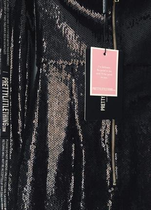 Роскошное вечернее платье в черных пайетках, сияет, силуэтное со спущенными плечами, plt 💔9 фото