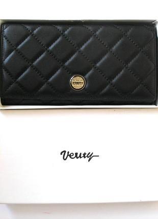 Большой кожаный кошелек verity dark, 100% натуральная кожа, есть доставка бесплатно