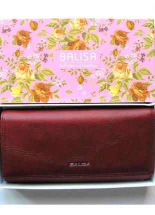 Большой кожаный кошелек classik red , 100% натуральная кожа, есть доставка бесплатно