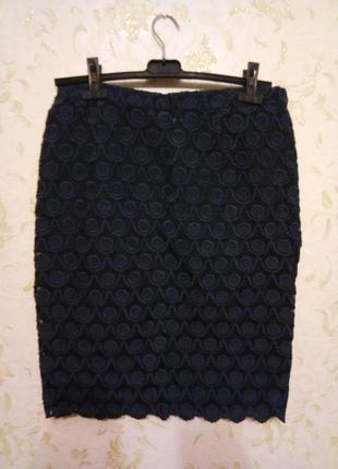 Шикарная темно-синяя юбка 12-14 рр.