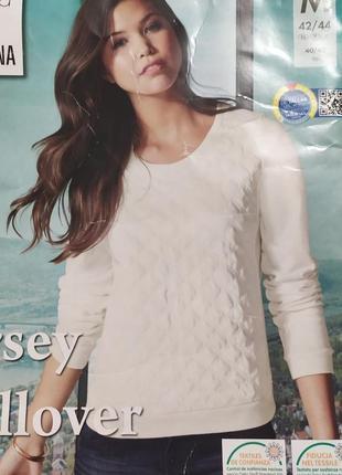 Шикарный свитшот пуловер esmara германия, перед - экокожа