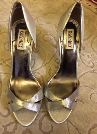 Серебряные туфли на новый год bagdley mischka 39 размер
