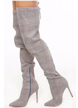 Красивейшие ботфорты на высоком каблуке шпильке