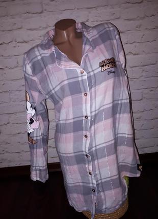 Платье рубашка ночнушка удлиненная пижама