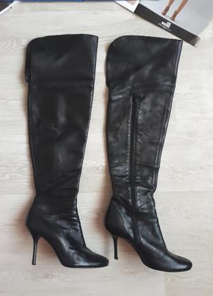 Кожаные ботфорты / высокие кожаные сапоги fiorangelo