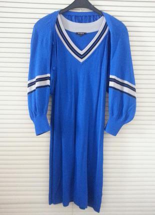 Продам летнее трикотажное  платье с балеро