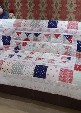 Sale! лоскутное одеяло с декоративной подушкой