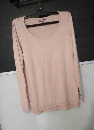 Розовый лёгкий удлиненный пуловер,свитер atmosphere