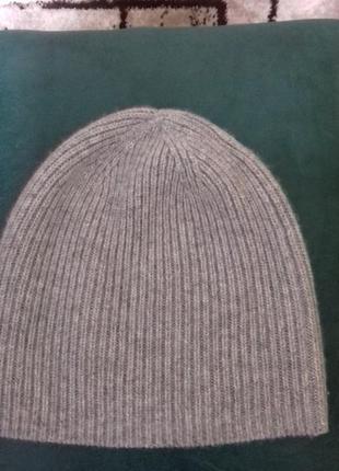 100% кашемир шапка beanie uniglo.