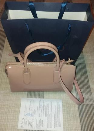 Брендовая сумка! кожаная сумка . бежевая сумка.
