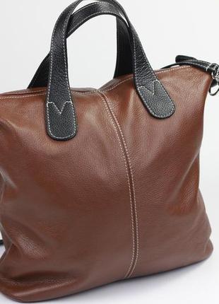 Итальянская кожаная сумка joi furla o bag vera pelle