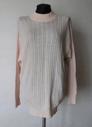 Нежный пудровый свитер  pringle 100% шерсть шотландия
