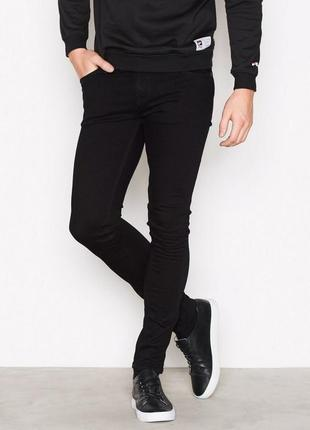 Оригинальные стильные джинсы nudie jeans skinny lin black black