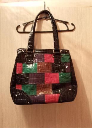 Модняча лакова сумка