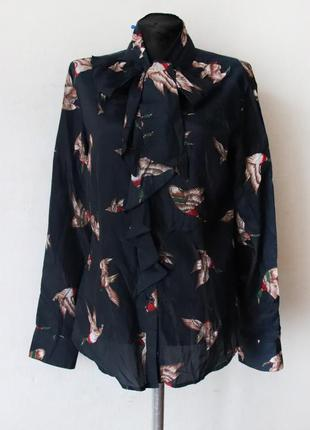 Рубашка с уточками mcgregor шелк в составе