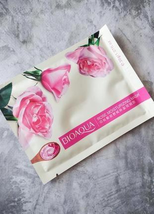 Тканевая маска bioaqua rose moisturizing mask🌷