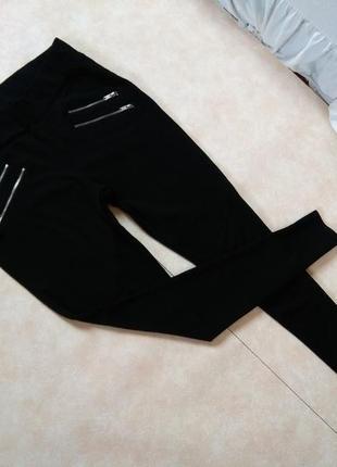 Стильные черные леггинсы лосины скинни с высокой талией cubus, 14 размер.