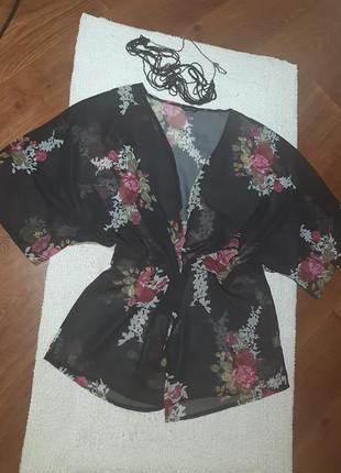 Блуза  накидка  кардиган  шифон
