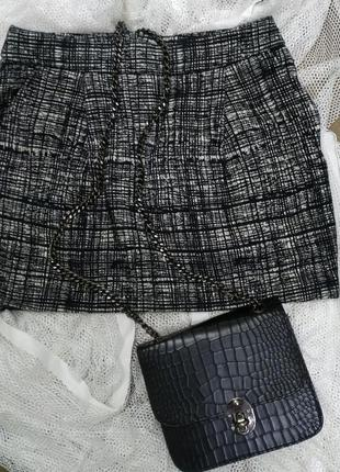 Теплая мини юбка mango, р.s, 36