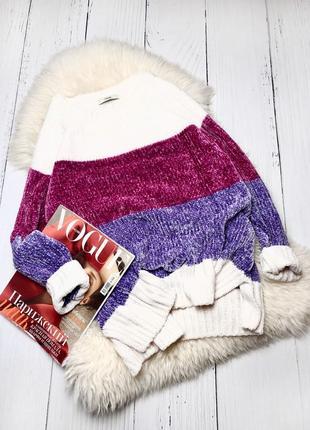 Велюровый свитер в полоску george