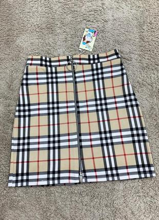 Новые юбки барбери с большим колечком