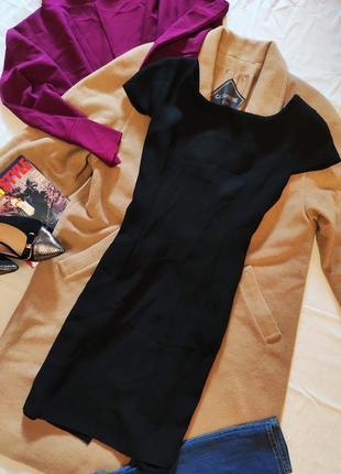 Wallis платье чёрное классическое с открытой спиной