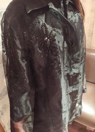 Накидка блуза вышивка праздничная 46 р jobis