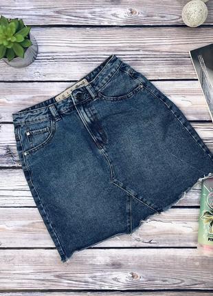 Джинсовая юбка denim co с необработанным низом xs-s