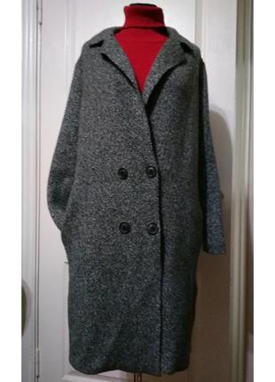 Трендовое  пальто-кардиган из плотного трикотажа