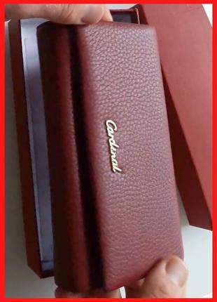 Женский кожаный кошелек с визитницей | cardinal, италия, оригинал