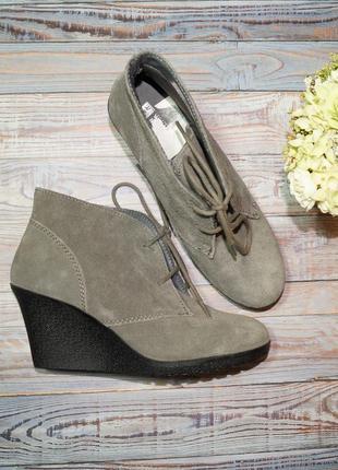 🌿40🌿white mountain. замша. фирменные ботинки на платформе
