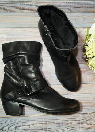 🌿40🌿zanon&zago. кожа. фирменные ботинки, полусапожки