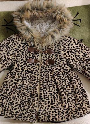 Леопардовое пальто на девочку
