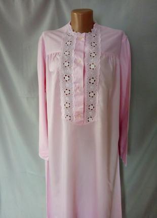 Нежная ночная рубашка с длинным рукавом, ночнушка