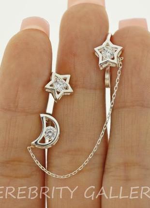 10% скидка - подписчикам! стильные серьги гвоздики (пусеты) серебряные. e 2659/1 w