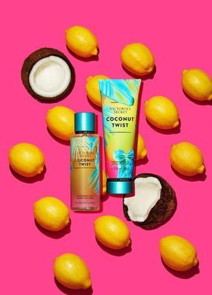 Coconut twist victoria's secret pink мист спрей для тела лосьйон