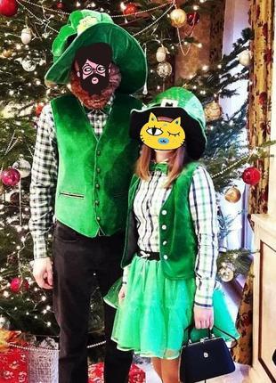 Крутой новогодний костюм леприконов для пары