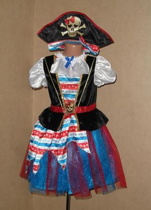 Карнавальное платье, карнавальный костюм пирата, пиратки на 6-8лет