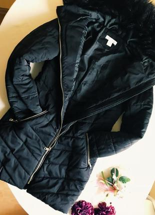 Тёплая куртка h&м, пуховик на синтепоне