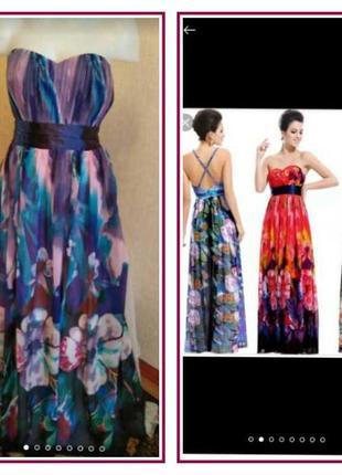 Розкішна  сукня в квітковий принт відомого бренду ever pretty