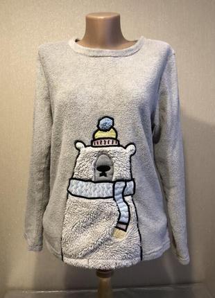 Домашняя тёплая кофта пижама