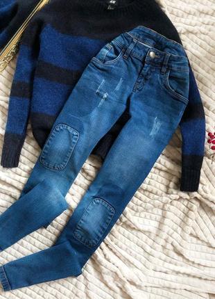 Крутые джинсы с заплатками